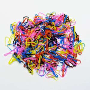 `Силиконовые резинки для волос, диаметр 25 мм, ширина 2,3 мм, цвет: яркие №3 (1уп = 10г ~110шт)