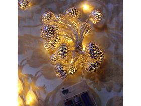 Гирлянда LED ШАРЫ на батарейках, 1,9 м, 20 ламп, для помещений