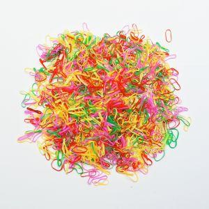 `Силиконовые резинки для волос, диаметр 10 мм, ширина 1,5 мм, цвет: яркие №2 (1уп = 10г ~560шт)