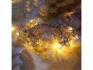 Гирлянда электрическая LED ЗВЕЗДЫ на батарейках, 90 см, 10 ламп