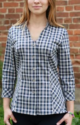 Блуза женская в клетку БЗ-11