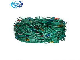 Гирлянда электрическая сетка, 160 ламп, прозрачная, цветная, бегущие огни, с контр, 0,8 x 1,5 + 1,5м