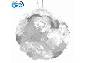 Гирлянда электрическая шар-цветы, 40 ламп, провод 1,50 м, белый