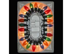 Гирлянда электрическая шишка-ромашка, 20 ламп, прозрачная, цветная, с контроллером, 2,8 + 1,5 м