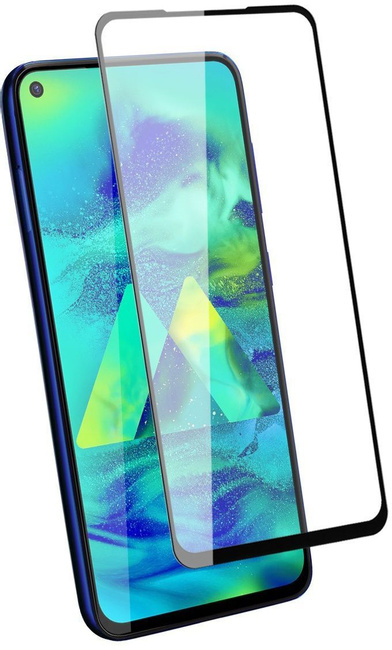 Защитное стекло на Samsung A21s с рамкой