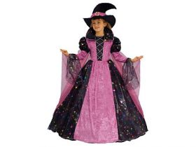 Карнавальный костюм ВЕДЬМОЧКА, полиэстр, размеры: на 10, 12 лет