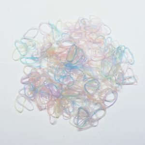 Силиконовые резинки для волос, диаметр 25 мм, ширина 2,3 мм, цвет: пастельные неон (1уп = 50г ~550шт)
