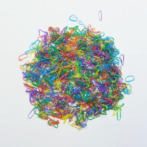 Силиконовые резинки для волос, диаметр 10 мм, ширина 1,5 мм, цвет: яркие №3 (1уп = 50г ~2800шт)