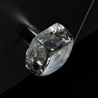 Мебельная ручку Glass Design Frozen. хром/прозрачный с перламутровым оттенком