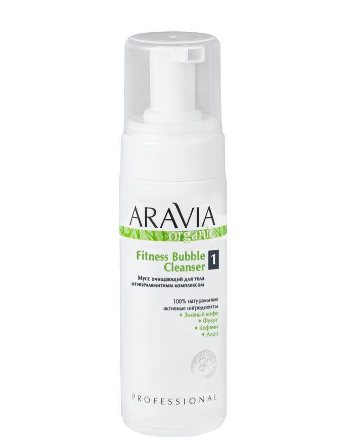 Мусс очищающий для тела с антицеллюлитным комплексом, 160 млFitness Bubble Cleanser ARAVIA Organic