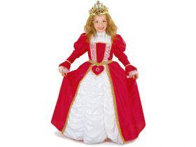 Карнавальный костюм ПРИНЦЕССА В КРАСНОМ, полиэстр, размеры: на 6, 8, 10 лет