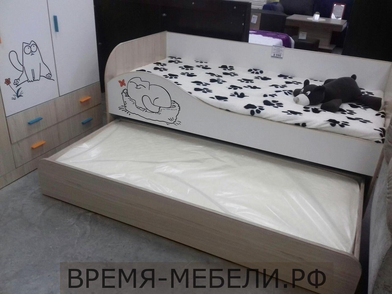 Кровать «Кот 900.1» + 2 матраса.