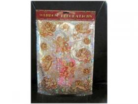 Наклейка декоративная на стекло АНГЕЛОЧКИ, 30*38 см, с лазерной печатью, ПВХ