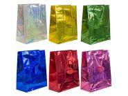 Пакет подарочный голография, 26*32*13 см, бумага, 6 цветов
