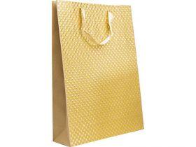 Пакет подарочный крафт, 33*45*10 см, с двустор.тиснением, бумага