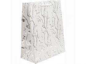 Пакет подарочный ламинированный полипропиленом, 26*32*13 см, блест.крошка, бумага.