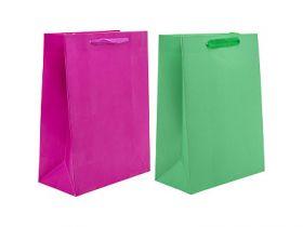 Пакет подарочный ламинированный, 20*27*10 см, 2 дизайна, бумага