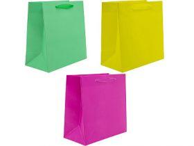 Пакет подарочный ламинированный, 20*20*10 см, 3 дизайна, бумага