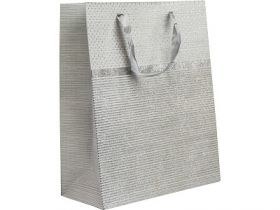 Пакет подарочный ламинированный, 26*32*12 см, с одностор. блест.крошкой, бумага
