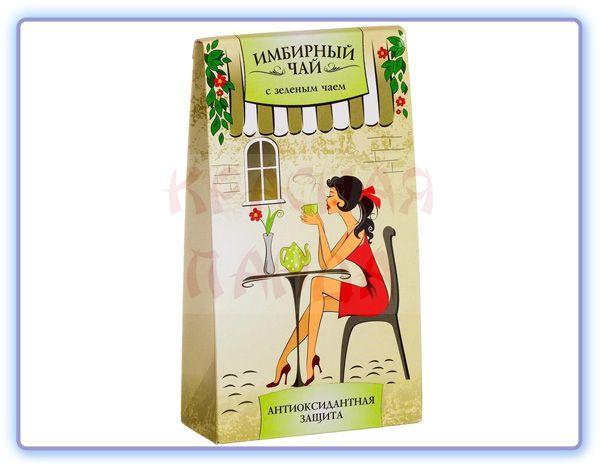 Имбирный чай с зеленым чаем Грин Сайд