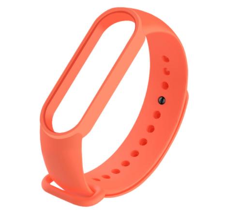 Сменный ремешок на фитнес - трекер Xiaomi Mi Band 5 ( Оранжевый )
