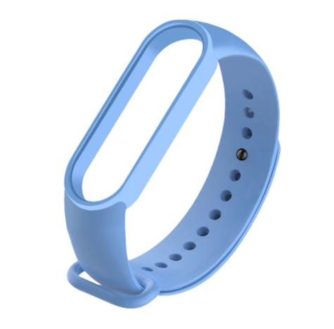 Сменный ремешок на фитнес - трекер Xiaomi Mi Band 5 ( Голубой )