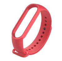Сменный ремешок на фитнес - трекер Xiaomi Mi Band 5/6 ( Алый )