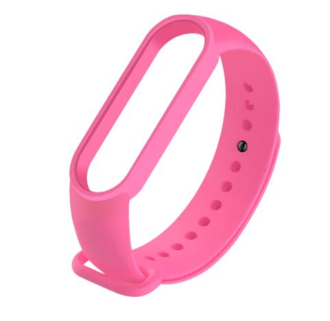 Сменный ремешок на фитнес - трекер Xiaomi Mi Band 5/6 ( Розовый )