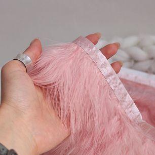 Тесьма с перьями розовая, 8 см