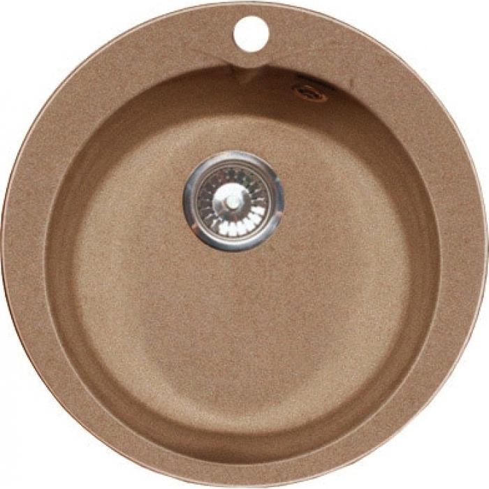 Мойка каменная S-1 круглая (песок) (д490гл чаши185 уст проем 470)