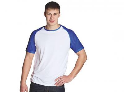 Футболки мужские реглан, 92% хлопок, 8% лайкра, 200 гр.