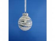 Украшение декоративное ШАР ПОЛОСКИ, 6 см, пластик