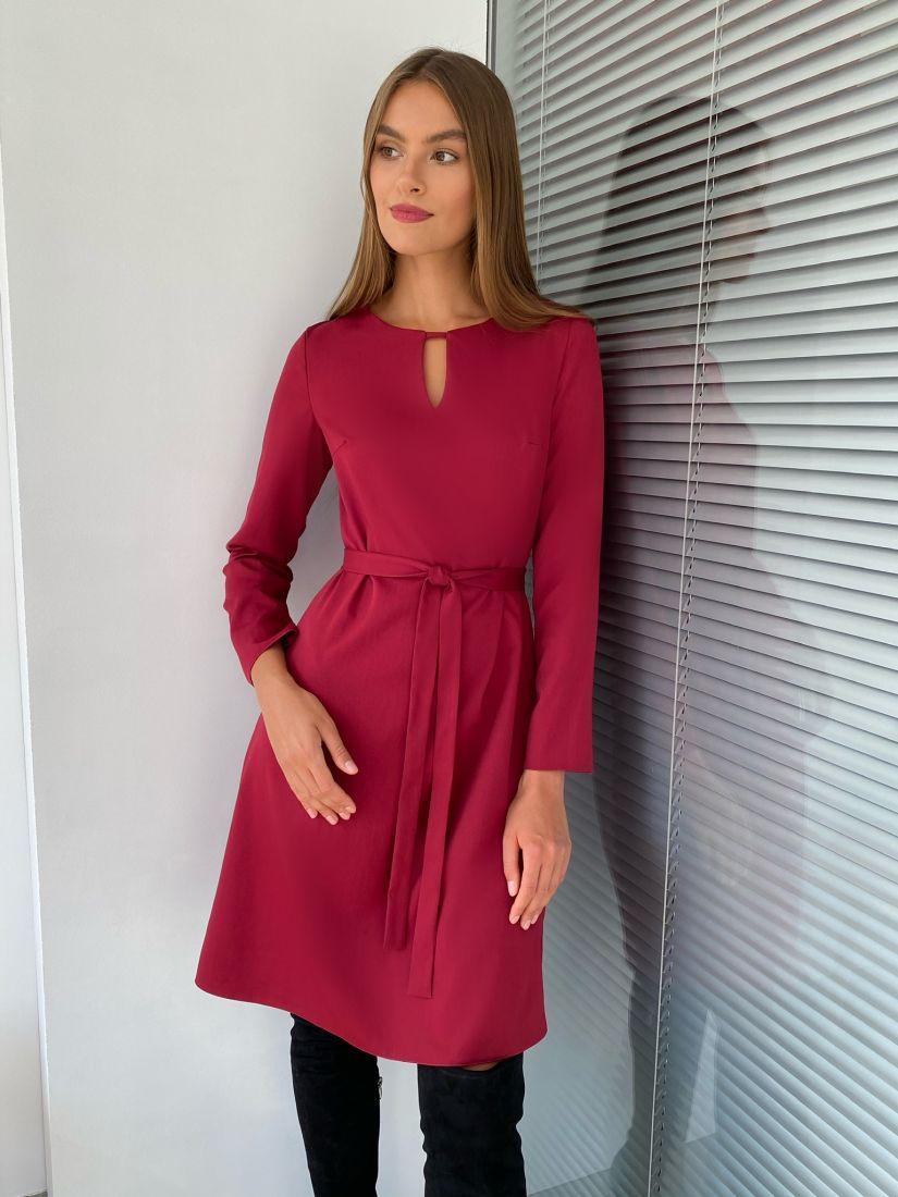 """s2287 Платье с вырезом в цвете """"красная груша"""""""