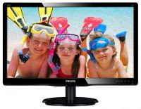 "Монитор Philips 19.53"" 200V4QSBR/00 MVA Black; 1920 x 1080, 250 кд/м2, 8мс, VGA, DVI-D"