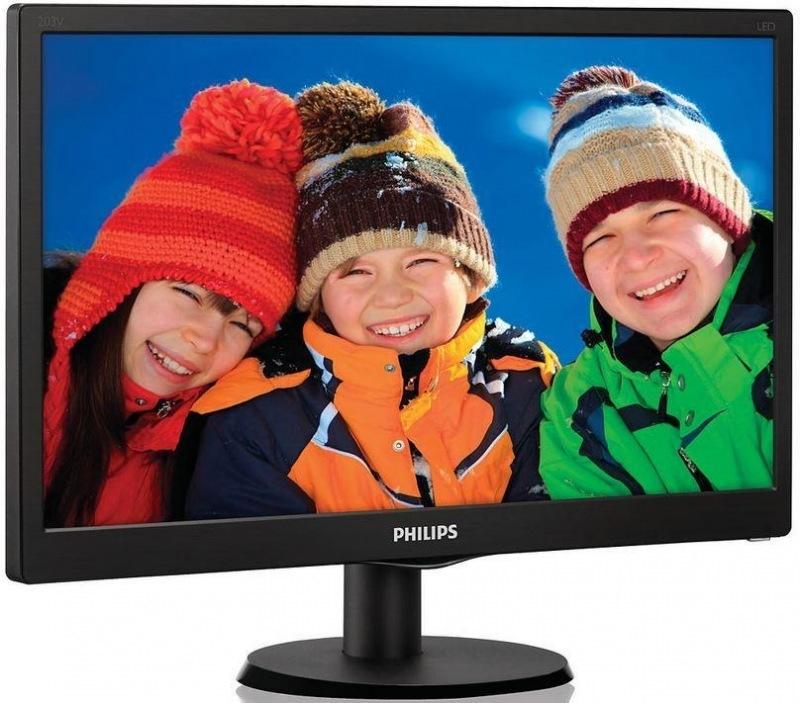 """Монитор Philips 21.5"""" 223V5LSB/00 Black; 1920x1080, 250 кд/м2, 5 мс, DVI-D, D-Sub"""