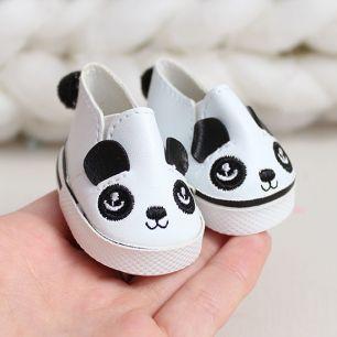 Обувь для кукол 5 см - Ботиночки панда