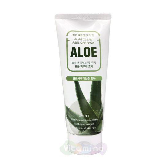 Jigott Маска-плёнка для лица на основе экстракта алоэ Aloe Pure Clean Peel Off Pack, 180 мл