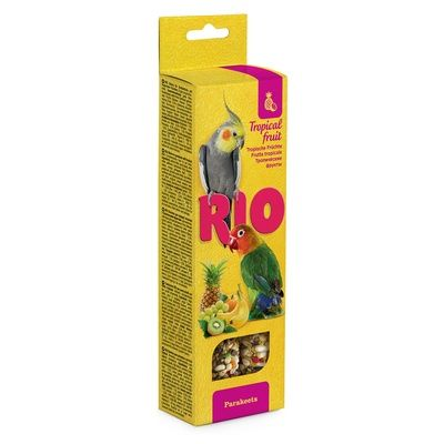 Палочки РИО для средних попугаев с тропическими фруктами 2х75 гр