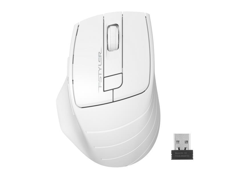 Мышь беспроводная A4Tech FG30S Grey/White USB