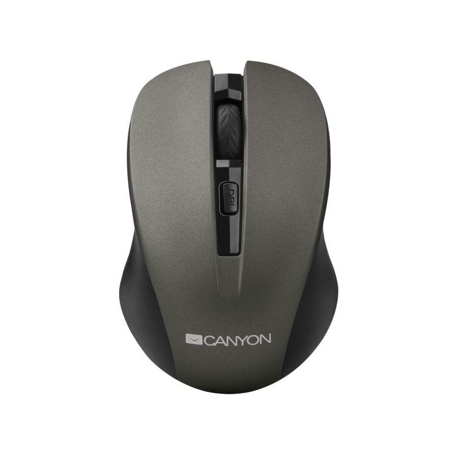 Мышь беспроводная Canyon CNE-CMSW1G Grey USB
