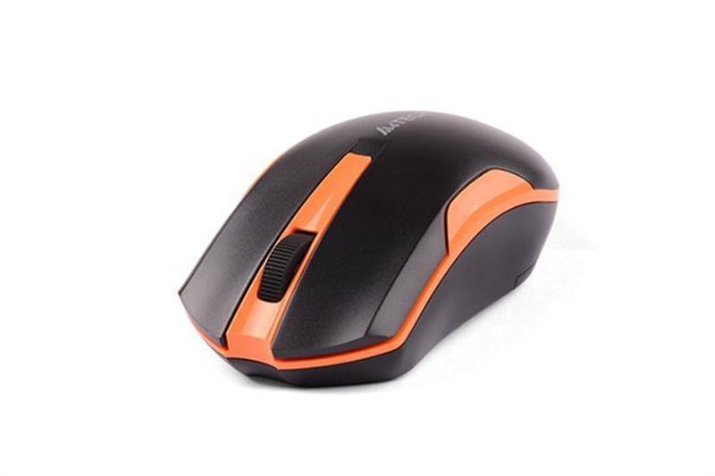 Мышь беспроводная A4Tech G3-200N Black/Orange USB V-Track