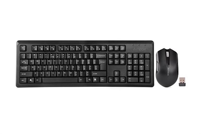 Комплект (клавиатура, мышь) беспроводной A4Tech 4200N (GR-92+G3-200N) Black USB