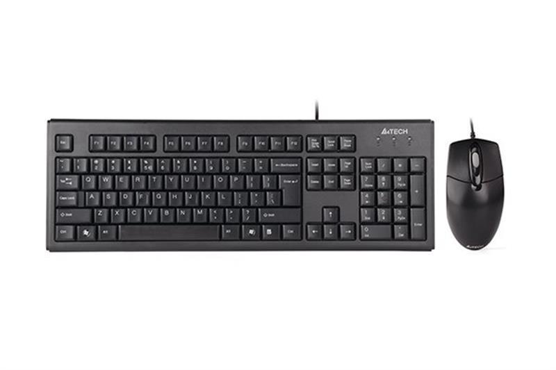 Комплект (клавиатура, мышь) A4Tech KR-8372 Black USB