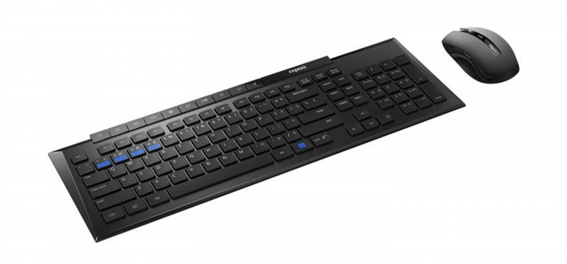 Комплект (клавиатура, мышь) Rapoo 8200M Wireless Black