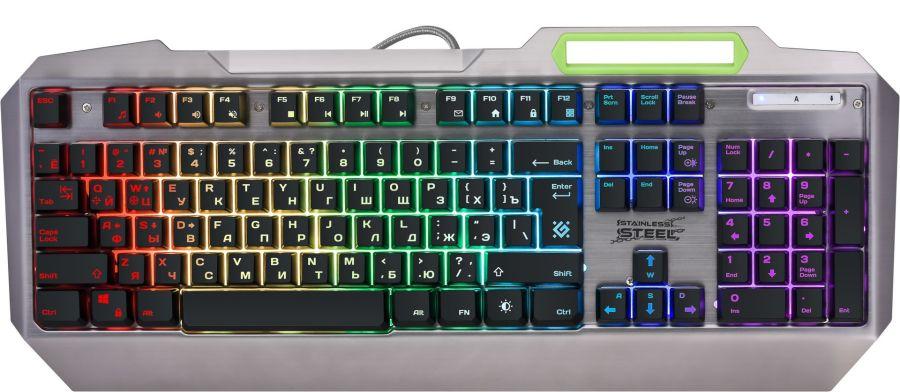 Клавиатура Defender Stainless steel GK-150DL (45150) Silver USB