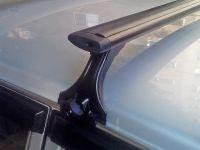 Багажник на крышу на ВАЗ-2121, ВАЗ-2131 (Нива / Нива Urban), Delta, аэродинамические (крыловидные) дуги, черный цвет