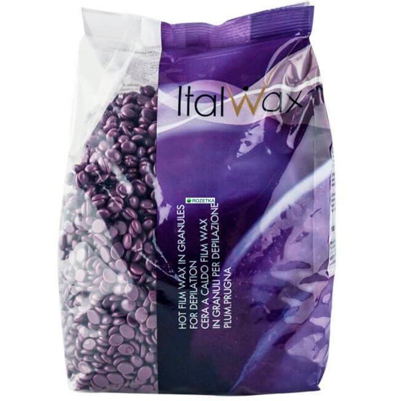 Воск горячий (пленочный)  ITALWAX Слива гранулы 1кг