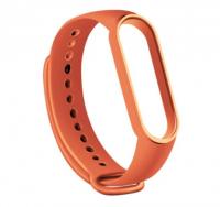 Сменный ремешок на фитнес - трекер Xiaomi Mi Band 5/6 ( Бледно-оранжевый )