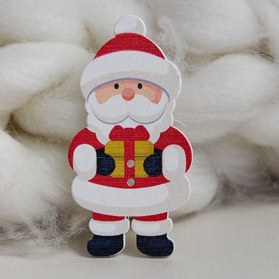 Деревянное украшение - Дед Мороз 7 см