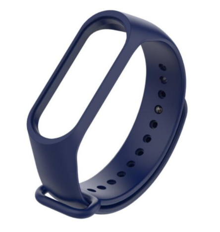 Сменный ремешок на фитнес - трекер Xiaomi Mi Band 5/6 ( Насыщенно темно-синий )